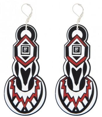 Red-Black-White (H)EARRINGS 01