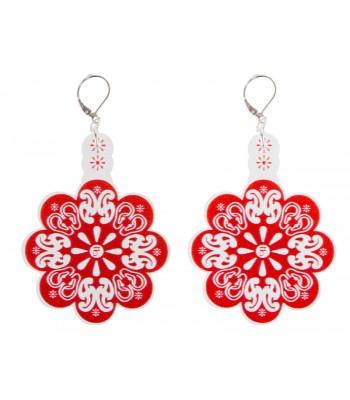 Red-white (H)EARRINGS 01