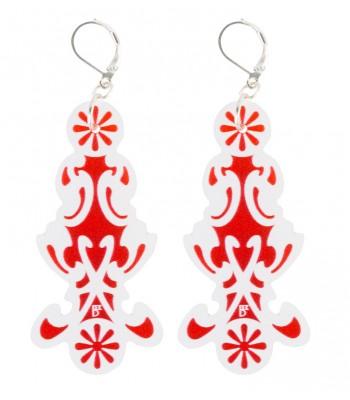 Red-white (H)EARRINGS 05