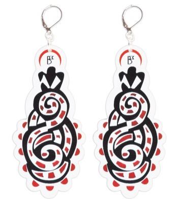 Red-Black-White (H)EARRINGS 03
