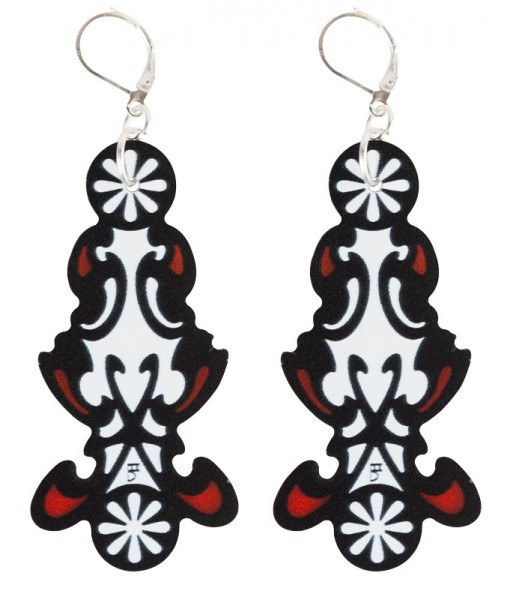 Red-Black-White (H)EARRINGS 04