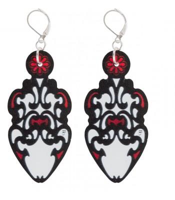 Red-Black-White (H)EARRINGS 05