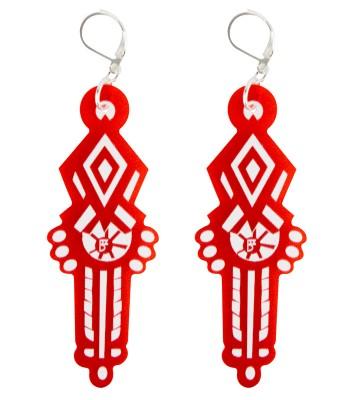 Red-white (H)EARRINGS 02