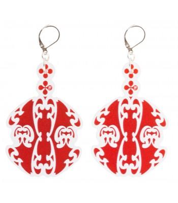 Red-white (H)EARRINGS 06