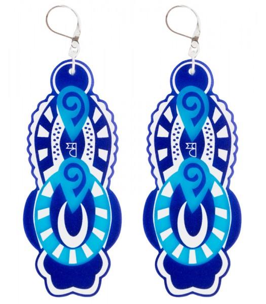 Blue-Light Blue-White (H)EARRINGS 01