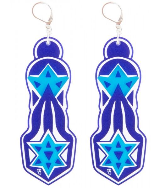 Blue-Light Blue-White (H)EARRINGS 02