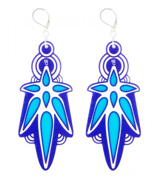 Blue-Light Blue-White (H)EARRINGS 03