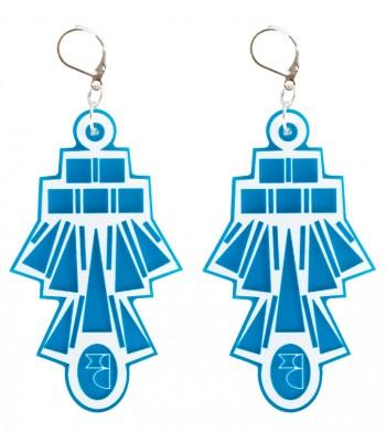 Blue-White (H)EARRINGS 05